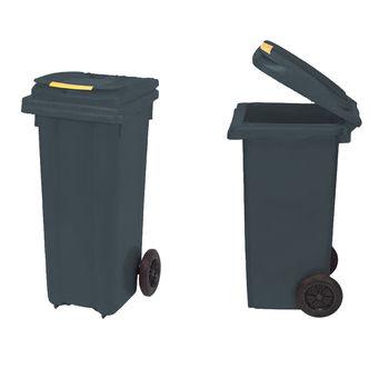 купить Бак мусорный 120 л - на колесах (черный)  UNI в Кишинёве