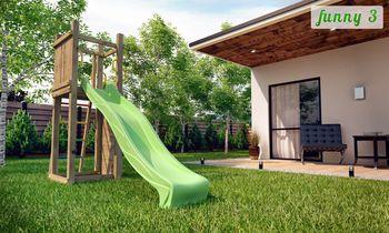 купить Деревянная детская площадка FUNNY 3 + песочница и качеля в Кишинёве