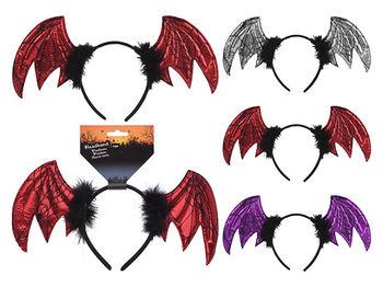 Cerc pe cap Halloween Aripi de vampir 35X23cm