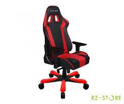 Игровое кресло DXRacer King GC-K06-NR, черный / красный,