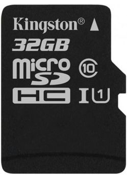 Kingston 32GB microSDHC Canvas Select Class10 UHS-I, 400x, Up to: 80MB/s