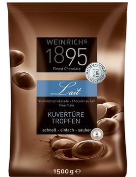 Cuvertura ciocolată cu lapte pentru copturi in forma de picaturi Weinrichs 1895 1500g