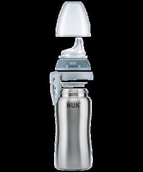 купить Поильник-термос NUK Active  inox голубой (6+ мес) 215 мл в Кишинёве