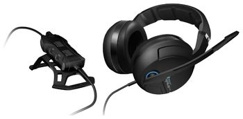ROCCAT Kave XTD 5.1 Analog / Premium 5.1 Surround Soung Gaming Headset, Noise-cancelling Microphone (detachable with mute LED), Dual-mode Remote, Real 5.1 Surround sound, Zero noise technology, Supreme comfort, 3.5mm jacks & USB 2.0 Port