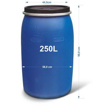 cumpără Bidon 250 l  (H-0.96m/W-0,58m) în Chișinău