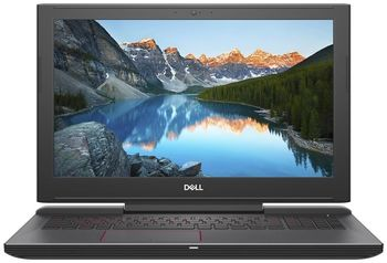 "DELL Inspiron Gaming 15 G5 Black (5587), 15.6"" IPS FullHD (Intel® Hexa-core™ i7-8750H 2.20-4.10GHz (Coffee L), 16Gb DDR4 RAM, 1.0TB+256GB SSD,GeForce® GTX1060 6Gb DDR5, CardReader, WiFi-AC/BT5.0, 4cell,HD720p Webcam, Backlit KB, RUS, Ubuntu,2.61kg )"