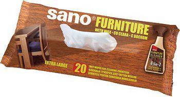 купить Sano Furniture Wipes Влажные салфетки для мебели (20 шт) 425585 в Кишинёве