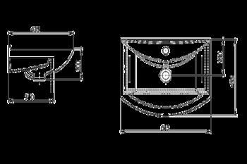 Умывальник Santeri Gratia 62x43