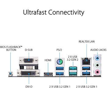 Материнская плата ASUS PRIME B450M-K II AMD B450, AM4, Dual DDR4 4400MHz, PCI-E 3.0/2.0 x16, HDMI/DVD-D/D-Sub, USB 3.1, SATA RAID 6Gb/s, M.2 x4 Socket, SB 8-Ch., GigabitLAN, LED lighting, (placa de baza/материнская плата)