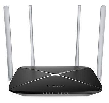 MERCUSYS AC12  AC1200 Dual Band Wireless Router, 867Mbps at 5Ghz + 300Mbps at 2.4Ghz, 802.11ac/a/b/g/n, 1 WAN + 4 LAN, 4 external antennas