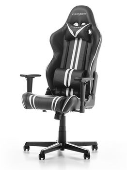 Gaming Chairs DXRacer - Racing GC-R9-NW-Z1, Black/White/Black - PU leather, Gamer weight up to 100kg / growth 165-195cm, Foam Density 50kg/m3, 5-star Aluminum IC Base, Gas Lift 4 Class, Recline 90*-135*, Armrests: 3D, Pillow-2, Caster-2*PU, W-23kg
