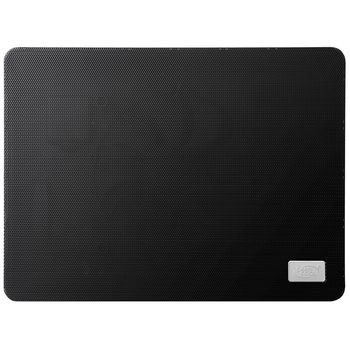 "DEEPCOOL ""N1 BLACK"", Notebook Slim Cooling Pad up to 15.6"", 1 fan - 180mm  with fan speed control button, 600-1000rpm, <16~20 dBA, 84.7CFM, Portable & slim design -only 2.6cm, USB pass-through connector, Metal Mesh Panel, Black"
