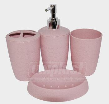 купить Набор 4-аксес.д/ванной, пластик  в ассорт(кругл) (10235) в Кишинёве