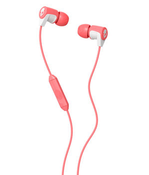 SkullCandy S2RFGY-436 RIFF in-ear w/Mic 1, coral/white/coral