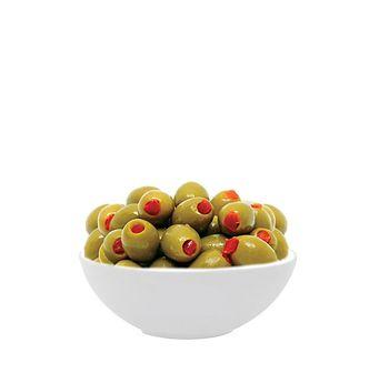 купить HUTESA Зелёные Оливки с Паприкой(в расоле) 350гр  ИСПАНИЯ в Кишинёве