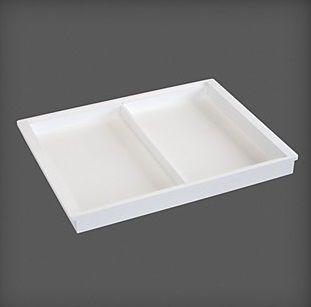 cumpără Container 2 compartimente din plastic pentru accesorii 530x405x44 mm, alb în Chișinău