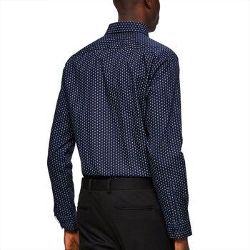 Рубашка SELECTED Темно синий с принтом 16058640 selected