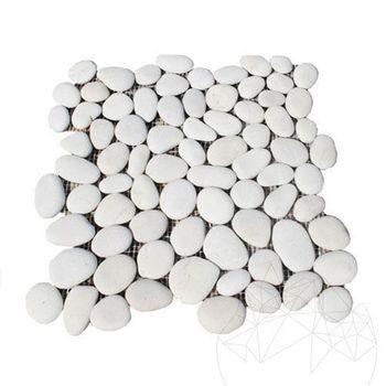 купить Мозаика Pebble White Mat в Кишинёве