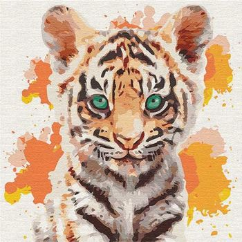 Картина для рисования по номерам Маленький тигр 30x30 см  4195