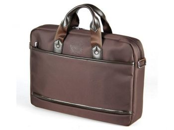 """CONTINENT NB bag 15.6"""" - CC-045 Brown, Top Loading"""