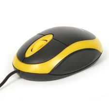 Omega OM06V Optical mouse 800dpi value line yellow blister 41643