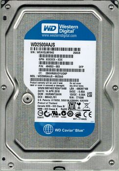 ".250Gb HDD 3.5"" Western Digital WD2500AAJS 7200rpm 8Mb, SATA2"