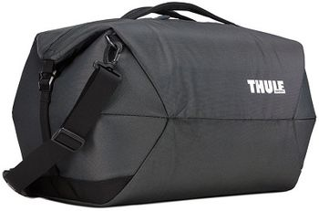 Travel Bag - THULE Subterra Duffel 45L, Black, 800D Nylon, Dimensions 25 x 35 x 56 cm, Weight 0.88 kg, Volume 45L, A sleek and spacious carry-on duffel with wide-mouth access to easily pack and organize your essentials.