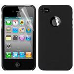 Чехол Moshi Soft-touch + защитная пленка для iPhone 4 / 4S черный