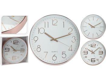 cumpără Ceas de perete rotund D30.5cm, din metal, culoare aurie în Chișinău