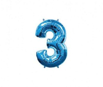 Цифра 3 Синий 40 / 102 см
