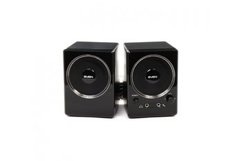 Speakers SVEN 247 Black (USB),  2.0 / 2x2W RMS, USB power supply, headphone jack, microphone input, 3""