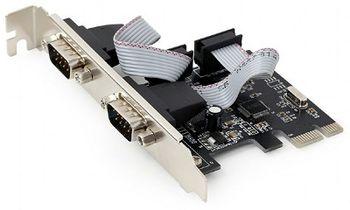 Gembird SPC-22, 2 x Serial ports, PCI-Express, with extra low-profile bracket