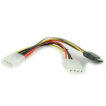 Cable CC-SATA-PSY2, SATA Power  + Molex female to Molex male
