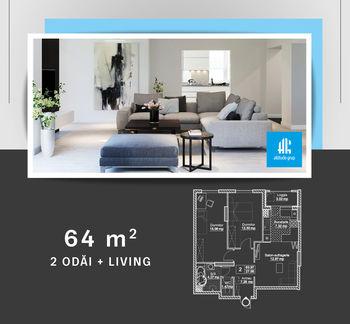 cumpără Apartament cu 2 camere + living - 64 m.p. în Chișinău