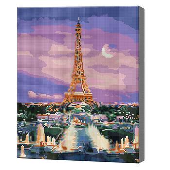 Париж в лиловых сумерках, 40x50 см, алмазная мозаика  QA204174