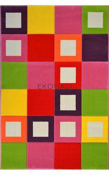 Ковёр EKOHALI Eko Kids 487 Green D Pink