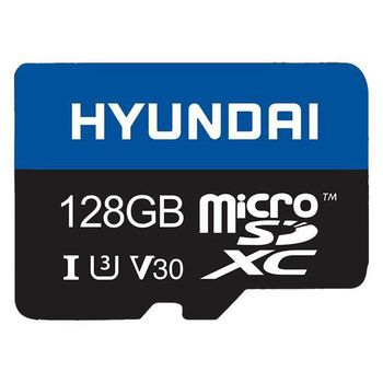 128GB microSD Class10 U3 V30 + SD adapter  Hyundai Technology, Up to: 100MB/s