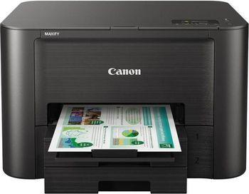Printer Canon MAXIFY IB4140, Colour Print,Net,Wi-Fi+Cloud Link, ADF(50-sheet), A4, Print 600x1200dpi_2pl, ESAT 24.0/15.5ipm, 64-275г/м2, Max.30k pages per month,Paper Input: 500sheets, USB 2.0, 4-ink tanks PGI-2400XL BK,C,M,Y