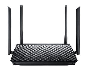 ASUS RT-AC1200 V2, Dual-band Wireless-AC1200 Router, 2.4GHz/5GHz for up to super-fast 1167Mbps, External antenna x 4, WAN:1xRJ45 LAN: 4xRJ45 10/100, Firewall