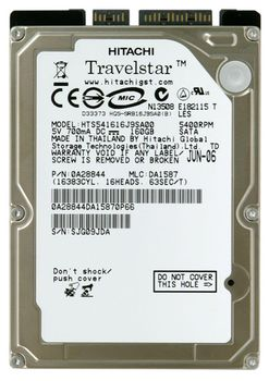 .160Gb HDD Hitachi, 5400 rpm