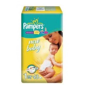 PAMPERS New Baby 1 (2-5 kг) (43 шт.)