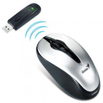 Mouse Genius Traveler 620 Cordless, Laser 1200dpi, Black/Silver, USB
