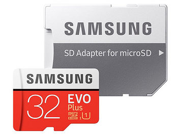 32GB Samsung EVO Plus MB-MC32GA/EU microSDHC (Class 10 UHS-I) with Adapter, Read:up to 95MB/s, Write:up to 20MB/s (card de memorie/карта памяти)