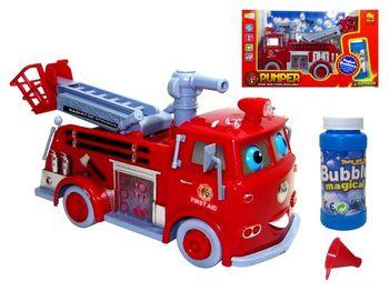 Пожарная машина музыкальная с мыльными пузырями