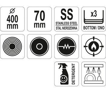 cumpără Tigaie profesională cu inducție și diametru 40 cm în Chișinău