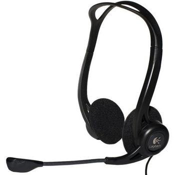 Headphones Logitech PC Stereo 960 USB, Headset: 20 - 20,000 Hz, Mic: 100 - 16,000 Hz, 2.4m