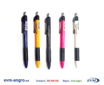 Ручка   AH 511 яркие цвета резинка кнопка 0.7 мм  12 144 1728