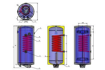 Водонагреватель термоэлектрический Eldom 80 л