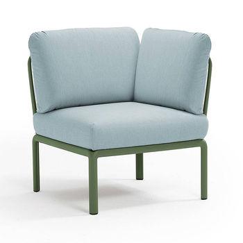 Кресло модуль угловой с подушками Nardi KOMODO ELEMENTO ANGOLO AGAVE-ghiaccio Sunbrella 40374.16.138