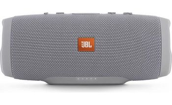 JBL Charge 3 Grey EU / Bluetooth Portable Speaker, 20W (2x10W) RMS, BT Type 4.1, Frequency response: 65Hz-20kHz, IPX7 Waterproof, Speakerphone, 6000mAh power bank USB 5V / 2A, JBL Connect, Power Supply: 5V / 2.3A, Battery life (up to) 20 hr